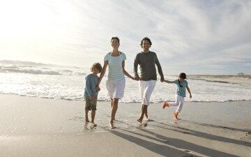 семья, пляж