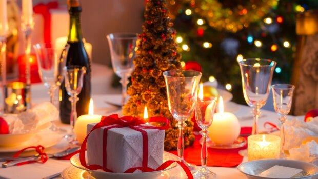 новый год праздничный стол