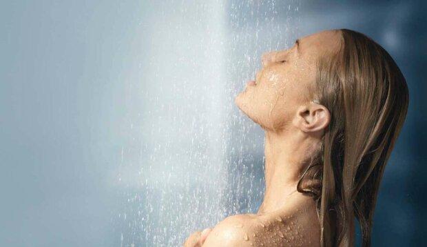душ, ванна, принимать, стоять под душем, вода