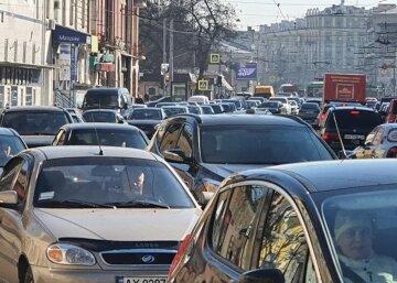 Харьков, автомобили, пробка