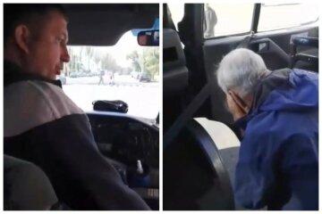 Водитель маршрутки ударил пенсионера дверью по голове, видео: как его наказали