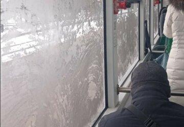 """Львів'яни замерзають в зледенілих тролейбусах міста, терпіння закінчується: """"Немає опалення - немає оплати за проїзд"""""""