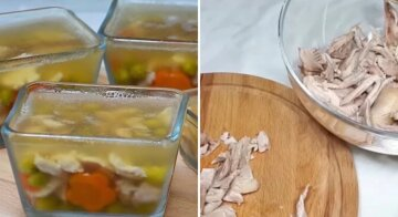Холодец можно приготовить всего из одного куриного бедра: пошаговый рецепт с фото