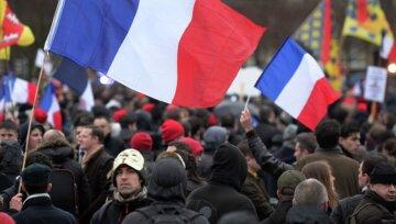 франция, париж, митинг