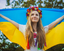 Украина флаг украинка украинцы девушка