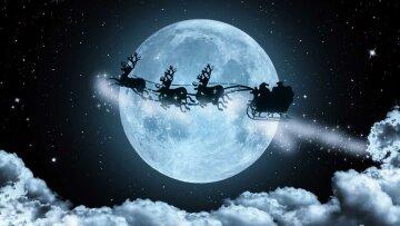 лунный календарь на декабрь, санта, олени, новый год