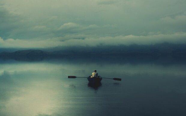лодка, человек