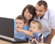 семья, компьютер