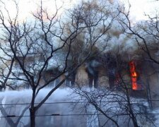 пожар в Одессе