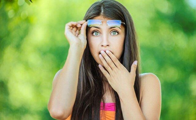 Девушка шок удивление испуг
