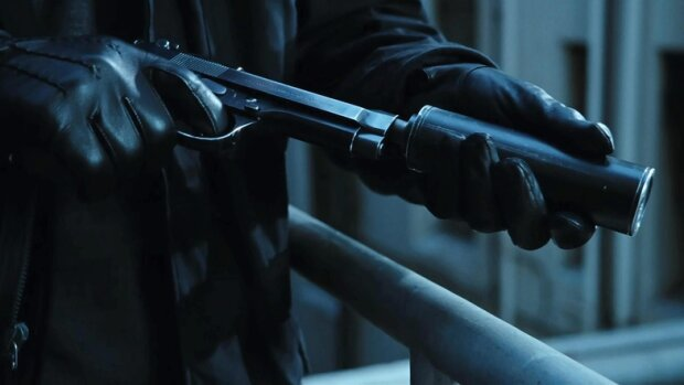 убийца, ствол, пистолет