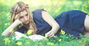 гороскоп на 8 апреля девушка, весна, чтение, книга, отдых