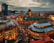 украина, вечерний город, киев