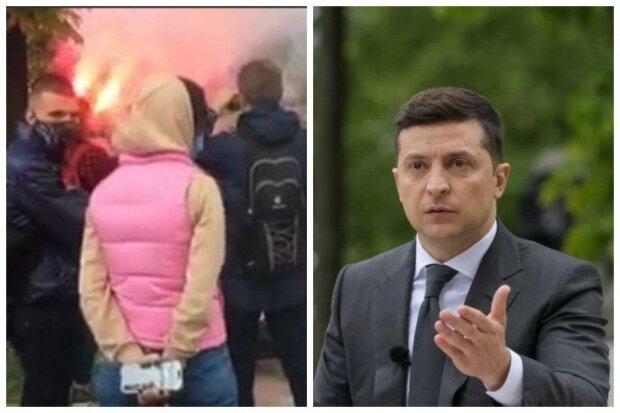 Бунт спалахнув після прес-конференції Зеленського, в хід пішли димові шашки: що відбувається