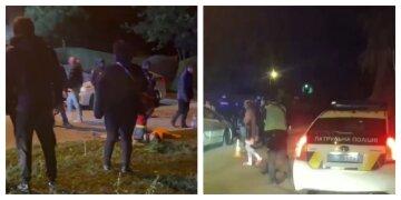 В Харькова толпа устроила драку с поножовщиной, фото: на месте много полицейских