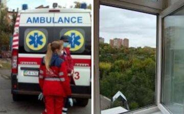 """Молодая киевлянка выпала из окна многоэтажки, видео: """"сожитель мог толкнуть..."""""""