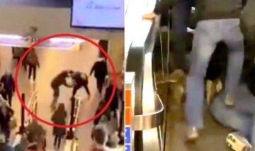 НП в метро: пасажири влаштували побоїще, жорстоко побивши силовика, кадри