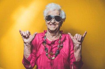 Модная крутая бабушка