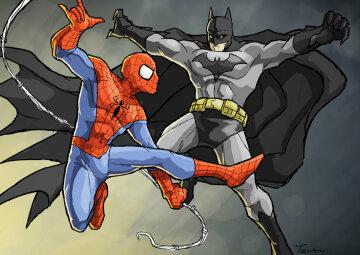 супергерои, комиксы, бэтмен, спайдермен