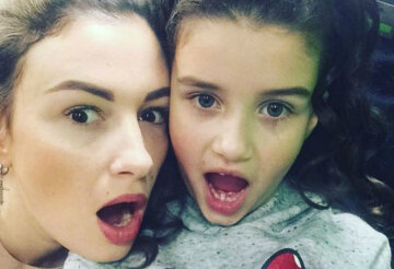 Анастасия Приходько с дочерью