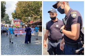 Верующие прошлись колонной по центру Одессы: их сопровождала полиция, видео