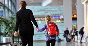 мать ребенок аэропорт загран