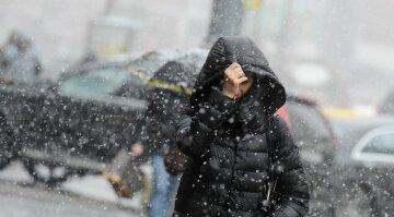 погода в украине, зима снег