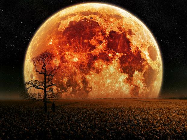 полнолуние, голубая луна