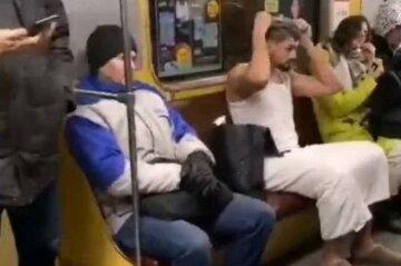 Киевлянин прославился после принятия душа в метро: пикантные кадры