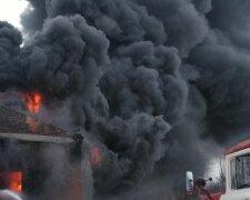 взрыв пожар дым