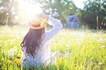 весна, лето, погода, девушка