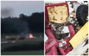 Літак з людьми впав відразу після зльоту: з'явилися кадри з місця авіакатастрофи в Швеції