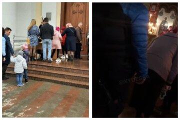 Карантин не перешкода: в Одесі показали, що творилося в церквах на Великдень, відео