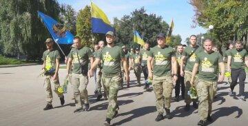 Ветераны поздравили днепрян с Днем Независимости и почтили героев, которые заплатили самую высокую цену