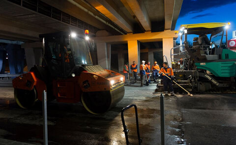 Накануне Евровидения «Левобережную» ремонтируют по ночам (фото)