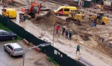 Строительство метро на Виноградарь остановилось: видео ЧП