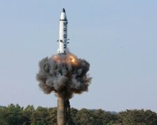 FILE PHOTO — The scene of the intermediate-range ballistic missile Pukguksong-2's launch