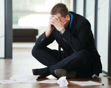 мужчина грусть отчаяние провал фиаско неудача