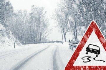 дорога, снег, ДТП, авария