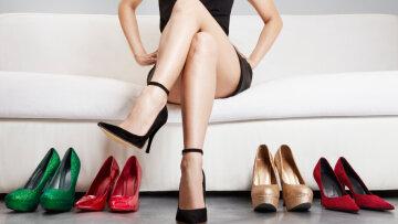 ноги, туфли, женщина