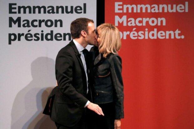 Макрон и жена