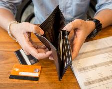 кредит, кошелек, нет денег