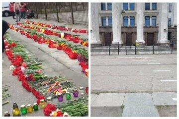 Квіти не довго лежали: як виглядає Куликове поле біля Будинку профспілок 5 травня, кадри