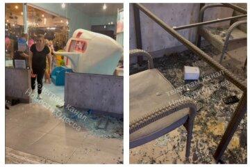 Скляні двері звалилися на дитину в дитячій кімнаті: кадри НП з ресторану під Одесою