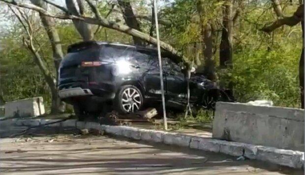Перепутала педали: одесситка превратила авто в груду металла, фото
