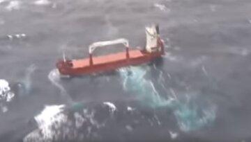 Судно потерпело крушение в море, на борту много украинцев: кадры ЧП