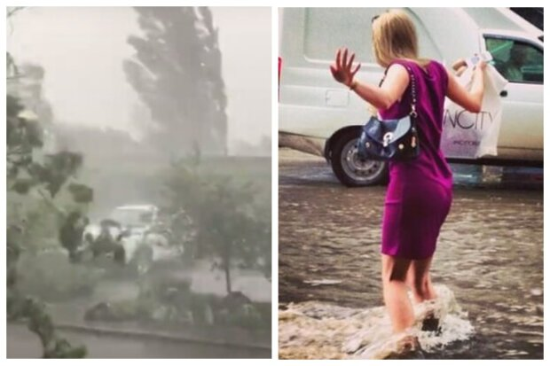 На Одессу обрушился ливень с ураганом, забили фонтаны грязи: видео непогоды