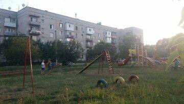 двор, площадка, дети