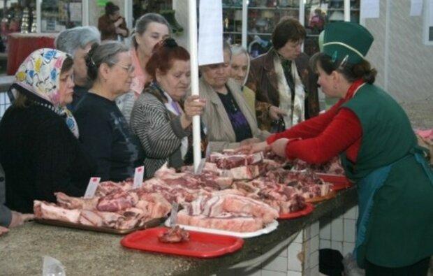 рынок, мясо