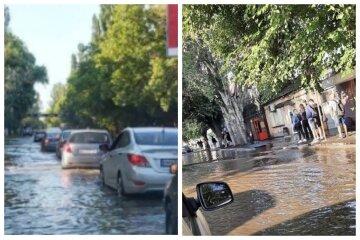 Транспортный коллапс в Одессе:  улицы остаются подтопленными, кадры